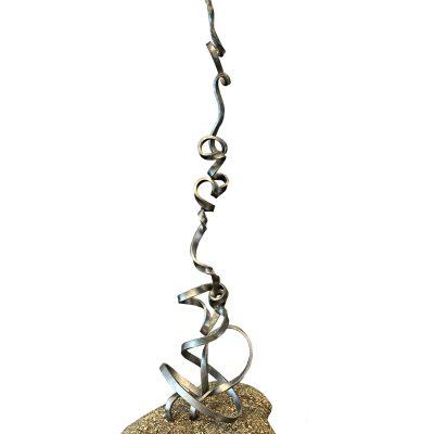 Bonfire, mixed media sculpture by Paul Reimer   Effusion Art Gallery + Cast Glass Studio, Invermere BC
